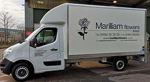 Flower deliveries throughout the North East from Marilliam